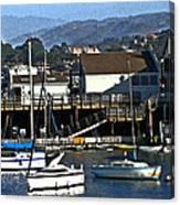 Sailboats Anchored At Mooring Canvas Print