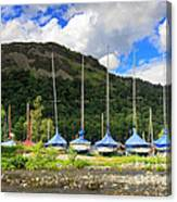 Sailboats At Glenridding In The Lake District Canvas Print