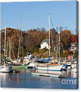 Sailboats In Camden Harbor I Canvas Print