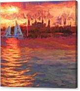Sailboatsunset Canvas Print