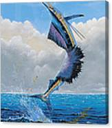 Sailfish Dance Off0054 Canvas Print