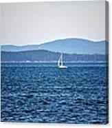 Sailing Amidst The Buoys Canvas Print