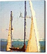 Sailing At Daytona Canvas Print