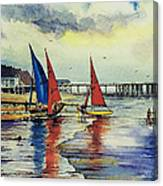 Sailing At Penarth Canvas Print