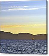 Sailing At Sunset - Lake Tahoe Canvas Print