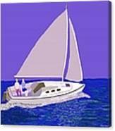 Sailing Blue Ocean Canvas Print