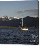 Sailing Boat On An Alpine Lake Canvas Print