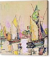 Sailing Boats At Les Sables D Olonne  Canvas Print