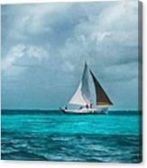 Sailing In Blue Belize Canvas Print