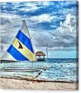 Sailing In Cancun Canvas Print
