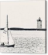 Sailing In Cape Cod Canvas Print