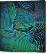 Sailing In Rough Sea Canvas Print