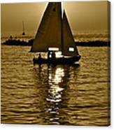 Sailing In Sepia Canvas Print