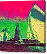 Sailing In Shimmer Canvas Print