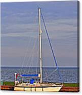 Sailing In Volendam Canvas Print