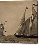 Sailing Into The Past Canvas Print
