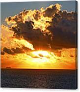 Sailing Into The Sunrise Canvas Print