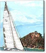 Bay Of Islands Sailing Sailing Canvas Print
