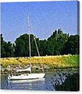 Sailing North On The Sacramento River Canvas Print