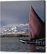Sailing Boat On Lake Titicaca Canvas Print