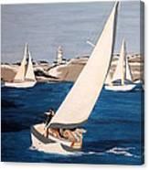 Sailing On San Francisco Bay Canvas Print