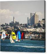 Sailing On The Bay Canvas Print