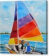 Sailing On The Choptank Canvas Print