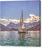 Sailing On The Lake Canvas Print