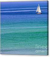 Sailing On Turquoise Blue Water Canvas Print