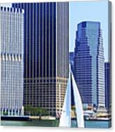 Sailing Past The Skyscrapers Canvas Print