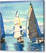 Sailing Regatta At Port Hardy Canvas Print