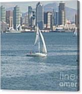 Sailing San Diego Canvas Print