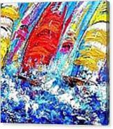 Sailing Ships In The Wind Canvas Print