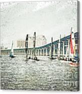 Sailing Sketch Photo Canvas Print
