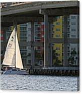 Sailing The Intracoastal Canvas Print