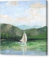 Sailing The Lake 1 Canvas Print
