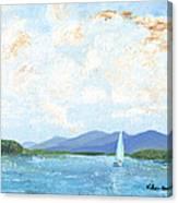 Sailing The Lake 2 Canvas Print