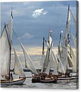 Sailing The Limfjord Canvas Print