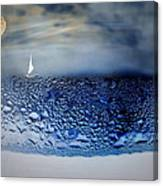 Sailing The Liquid Blue Canvas Print