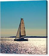 Sailing The Ocean Blue Canvas Print