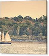 Sailing The Shoreline Canvas Print