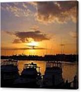 Sailing To Sunset Canvas Print