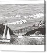 Sailing Mount Hood Oregon Canvas Print