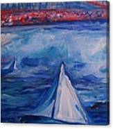 Sailing Under The Golden Gate Canvas Print