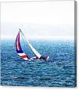 Sailing Vinyard Sound  Photo Art Canvas Print