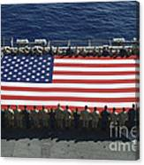 Sailors And Marines Display Canvas Print