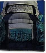 Sailors And Soldiers Monument By Night Canvas Print