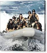 Sailors Conduct Maneuvers Canvas Print