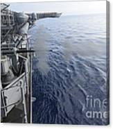 Sailors Fire A 25mm Machine Gun Aboard Canvas Print