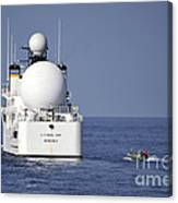 Sailors In A Rigid-hull Inflatable Canvas Print